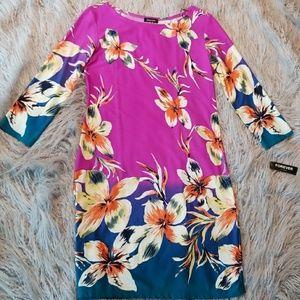 Forever Dresses - floral colorful shift dress slip on